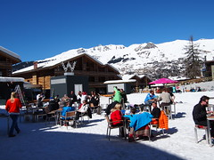 Infront of The W Hotel in Verbier!