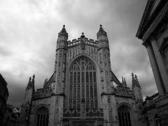 Bath Abbey (lkeogan89) Tags: uk summer sun white black history church abbey architecture bath cathedral historical