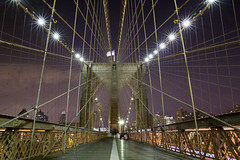 Brooklyn Bridge walkway (Mansing) Tags: nightphotography bridge stone suspension cables brooklynbridge apeture