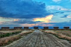 Locked and abandoned (Nick-K (Nikos Koutoulas)) Tags: road sunset abandoned clouds locked   kalochori