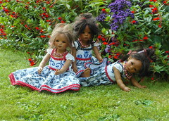 Reki Leleti und Doppel-Leleti ... (Kindergartenkinder) Tags: reki dolls schloss annette wasserburg anholt himstedt kindergartenkinder leleti doppelleleti