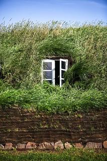 Window of a turf house