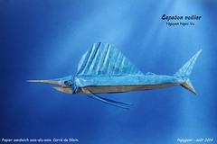Espadon voilier - Nguyen Ngoc Vu (Papygami) Tags: 2 fish pez de origami poisson papier vu papiroflexia voilier nguyen vog sailfish volador ngoc espadon pliage papygamy