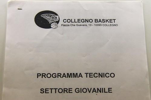 Programma tecnico settore giovanile Collegno Basket