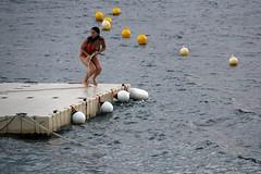 Stylish... (GeorgeKats) Tags: blue sea summer woman outdoors greek greece unintentionalmodel