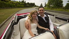 The Long & Winding Road (Pennan_Brae) Tags: wedding vancouver vintage buick classiccar vintagecar convertible retro justmarried yvr skylark vancity weddingcar