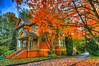 vibrant fall colour at Deas Island heritage house (non stop creations- Sherry Landon) Tags: autumn orange fall nikon sherry hdr landon d300 theworldwelivein nonstopcreations vibrantdeasisland