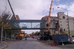 Deconstruction in Christchurch after earthquake (Titan Cranes NZ) Tags: new newzealand christchurch crane cranes zealand nz titan kato lifting terex demag titancranes ac55c titancraneslimited titancranesnewzealandnz