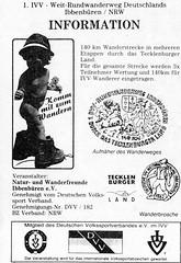 1992 Germany // IVV Rundwanderweg Ibbenbren (maerzbecher-Deutschland zu Fuss) Tags: trekking germany deutschland hiking natur trail nrw 1992 wandern wanderweg wanderwege tecklenburgerland ivv weitwanderweg maerzbecher ibbebbren deutschlandzufus deutschlandzufuss ivvrundwanderwegibbenbren