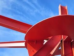 sculpture /art (kenjet) Tags: sanfrancisco red sky sculpture art metal artist display steel shape markdisuvero legionofhonor marcopolo marcopolodisuvero