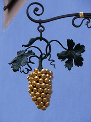 Ornamental grapes (Edge of Europe) Tags: blue architecture gold ornament grapes