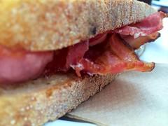 Having a bacon sarnie for breakfast. #breakfastclub