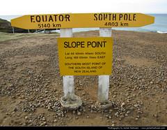 Slope Point, New Zealand (JH_1982) Tags: new nova sign point island south southern most zealand sur te wai aotearoa nueva isla slope baru zelanda sud neuseeland nuova yeni nieuwzeeland le pounamu sdinsel zelndia   nouvellezlande    selandia