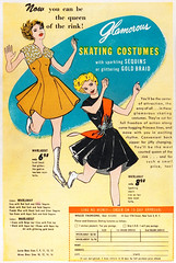 Wilco Glamorous Skating Costumes, 1950 (Tom Simpson) Tags: fashion illustration vintage comics advertising costume skating ad advertisement wilco 1950 vintageadvertising vintageadvertisement