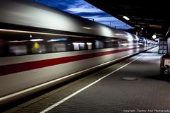 DSC_2861 (thomas.roesl) Tags: ice station train drive zug bahnhof drivethru ulm nachtaufnahme thru bundesbahn sigma1020mmf456 hochgeschwindigkeitszug durchfahrt dbice nikond7100
