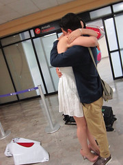 After 7 months separated... True love (anasilvia_paredescarbajal) Tags: airport welcome truelove