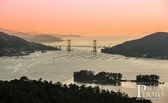 Ría de Vigo dende Mirador do outeiro grande de O Viso. (Pixelin Photo) Tags: sunset portrait puente paradise place paisaje ponte galicia paraiso lusco fusco ria viso mirador vigo paisaxe solpor galego rande redondela pixelin pixelinphoto