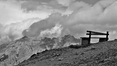 Please, a seat by the window (Francisco A P Cardoso) Tags: bw cloud mountain alpes lumix tirol pb panasonic