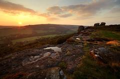 Sundown on Froggatt (andy_AHG) Tags: autumn sunset outdoors evening derbyshire peakdistrict hills moors pennines beautifulscenery edges pursuits britishcountryside froggattedge autumnalequinox
