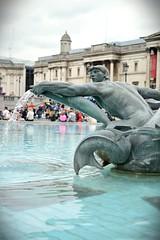 Running water (andrea.manz) Tags: trip sculpture holiday motion london water fountain 35mm square frozen nikon gallery trafalgar blurred running falling national flowing dslr brightness sharpness d3200