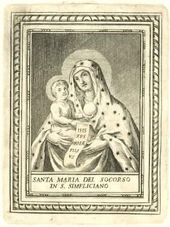 Beata Vergine del Soccorso, incisione
