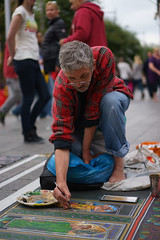Artist (and piu) Tags: street dublin artist pavement candid sony brush september sidewalk performer a7 2014 photogrphy oconnelstreet ilce7