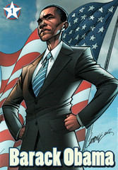 Barack Obama trading card (FranMoff) Tags: comicbooks campbell tradingcards barackobama jscottcampbell
