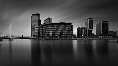 Media City (mg photography2) Tags: mediacity salford longexposure media city cityscape urban long exposure canon canonuk clouds cloudscape monochrome mono manchester uk england building buildings architecture architectural modern