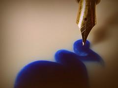 'what were you inking???' 'Made of Metal' (pics by paula) Tags: metal hmm pen nib ink close up picsbypaula madeofmetal macromondays macro mondays