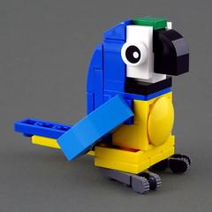 Cuddly Toys: Parrot (Swan Dutchman) Tags: lego toy cuddlytoy stuffedtoy plushtoy plushies snuggies stuffies snuggledanimals stuffedanimals softtoys knuffel knuffelbeest knuffeldier parrot papegaai