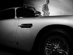 CLaSSic. (Warmoezenier) Tags: auto black blanco bond car coche connery film james klassieker louwman movie museum negro sean white wit zwart
