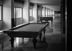 The Corridor of Leisure (meezoid) Tags: billiards piano corridor blacknwhite blackandwhite monochrome bw hochiminh vietnam saigon independence palace asia travel 1960s c1u7