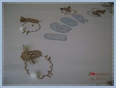cueiro flanela (Joanninha by Chris) Tags: feitoamao handmade ovelhinha enxovalmenino cueiroflanela bordado artesanato azul bege