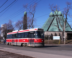TTC CLRV STREETCAR UKRAINIAN CHURCH BROADVIEW (bishop71701) Tags: ttc streetcar trolley tram clrv broadview riverdale february toronto