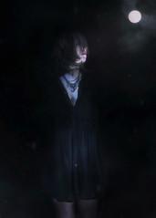 In the night (Indiesigh Ph) Tags: night soul indiesigh texture digitalmanipulation portrait moon creative dark darkness light contrast girl interesting dream reflex 2017 italy skin dress
