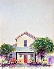 selah ranch texas (Don Gore (dgdraws)) Tags: ranch watercolor painting sketch texas arches dongore selahranch selahinn talcotexas
