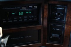 1987 Cadillac deVille Touring Coupe (smokuspollutus) Tags: radio twilight exterior interior 1987 wheels cadillac dash rims deville coupe touring bose spoiler sentinel dimming headrests