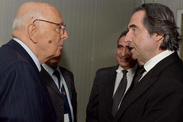 Il presidente Giorgio Napolitano e il Maestro Riccardo Muti