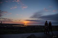 Grotta lighthouse (jrbelaval) Tags: sunset people lighthouse faro atardecer iceland islandia reykjavik personas grotta