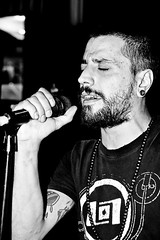 Singing the desert (nemseck) Tags: portrait bw music rock live performance singer mic emotional ritratto rama feelings stoner cantante