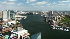 View from the Baltimore World Trade Center, facing southeast (SchuminWeb) Tags: world park city building tower buildings observation aquarium bay harbor high md view ben web mason worldtradecenter hill towers maryland center baltimore inner deck national views highrise april wtc rise trade federal chesapeake rises highrises innerharbor chesapeakebay 2014 legg baltimoreinnerharbor baltimoreharbor federalhillpark schumin schuminweb