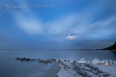 The Blue Moment (shannbil (Signature Exposures)) Tags: blue sky beach clouds rocks bluesky manitoba bluehour matlock bluemoment signatureexposures shannonbileski shannbil