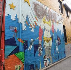 Kensington Attack of the 50 Foot Woman Market Mural (wiredforlego) Tags: streetart toronto ontario canada graffiti mural urbanart kensington yyz