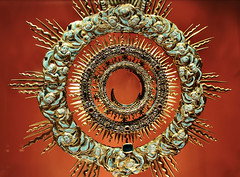 Detail of monstrance (made in 1712) - Archdiocese Museum in Poznan (Poland)