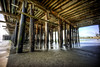 Ebb Tide (eCHstigma) Tags: ocean california santacruz beach architecture landscape sony voigtlander wharf bayarea 15mm heliar superwide voigtlanderheliar15mmf45 sonya7