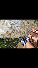 Chacos (donovan_tara) Tags: blue orange mountains river smokies bestfriends chacos whitegirls