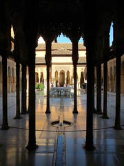 Courtyard of the Lions (perseverando) Tags: architecture spain palace andalucia alhambra moorish granada perseverando