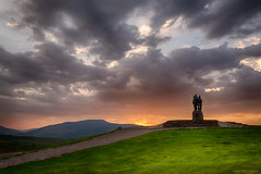 Commando Memorial (Kev Palmer) Tags: light sunset sky mountains monument clouds scotland spring highlands nikon memorial skies sundown dusk may shade lochaber speanbridge benbo leefilters nikkor2470f28 benbotripod leendgrad nikond800e