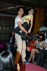 Angy en el desfile de presentación de la colección de moda de Nerea Garmendia