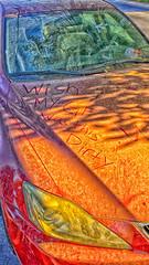 WISH (akahawkeyefan) Tags: car writing dirty wish kingsburg davemeyer